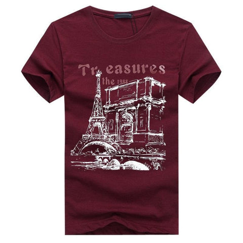 Camiseta Masculina Importada Summer Places-Dark Red - Roupas & Moda
