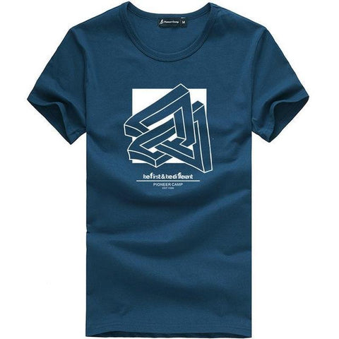 Camiseta Masculina Pioneer Camp Algodão Be Different-Dark Blue - Roupas & Moda