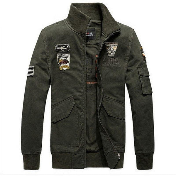Jaqueta Masculina Forro Lã Air Force One Military-Green - Roupas & Moda