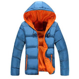 Jaqueta Masculina Importada Parka Slim Winter Casual-Orange Blue - Roupas & Moda