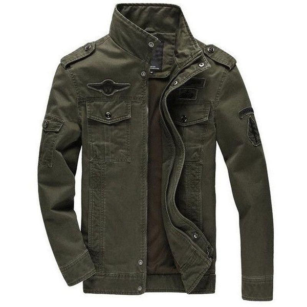 Jaqueta Masculina Tawill Militar Plus M-6XL Army Air Force-Army Green - Roupas & Moda