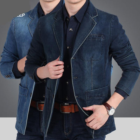 Blazer Masculino Importado Cotton Denim Smart Fit