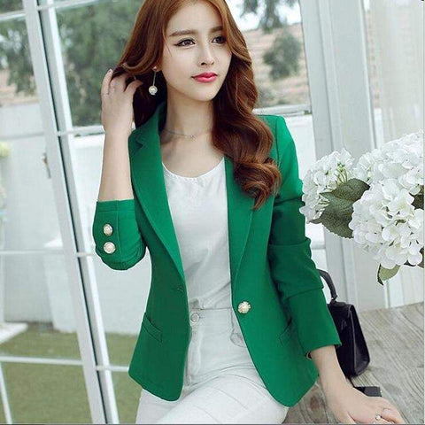 Blazer Feminino Single Button Femme Office