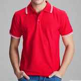 Camisa Polo Masculina Importada Solid Casual Slim Fit
