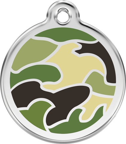 Pet ID Tags - Stainless Steel Enamel - Colors as Shown - Three Humans & A Dog Company  - 7