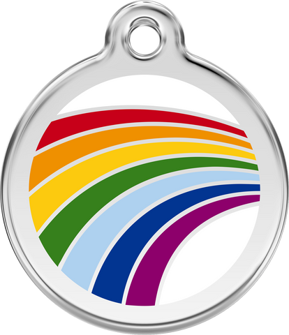 Pet ID Tags - Stainless Steel Enamel - Colors as Shown - Three Humans & A Dog Company  - 21