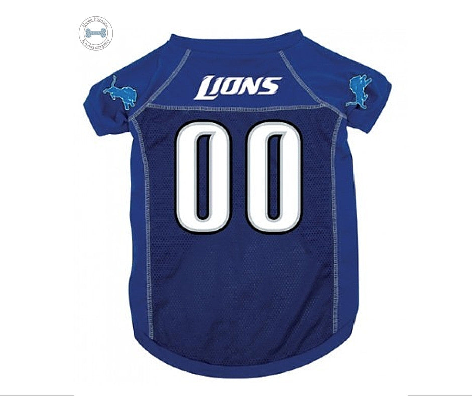 NFL - Detroit Lions Dog Jersey - Three Humans & A Dog Company  - 2