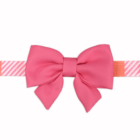 Ribbon Bow - Pink Grosgrain
