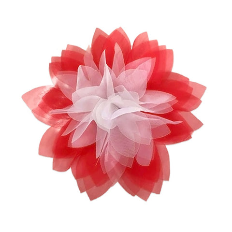 Flower - Red & White Tulle Flower