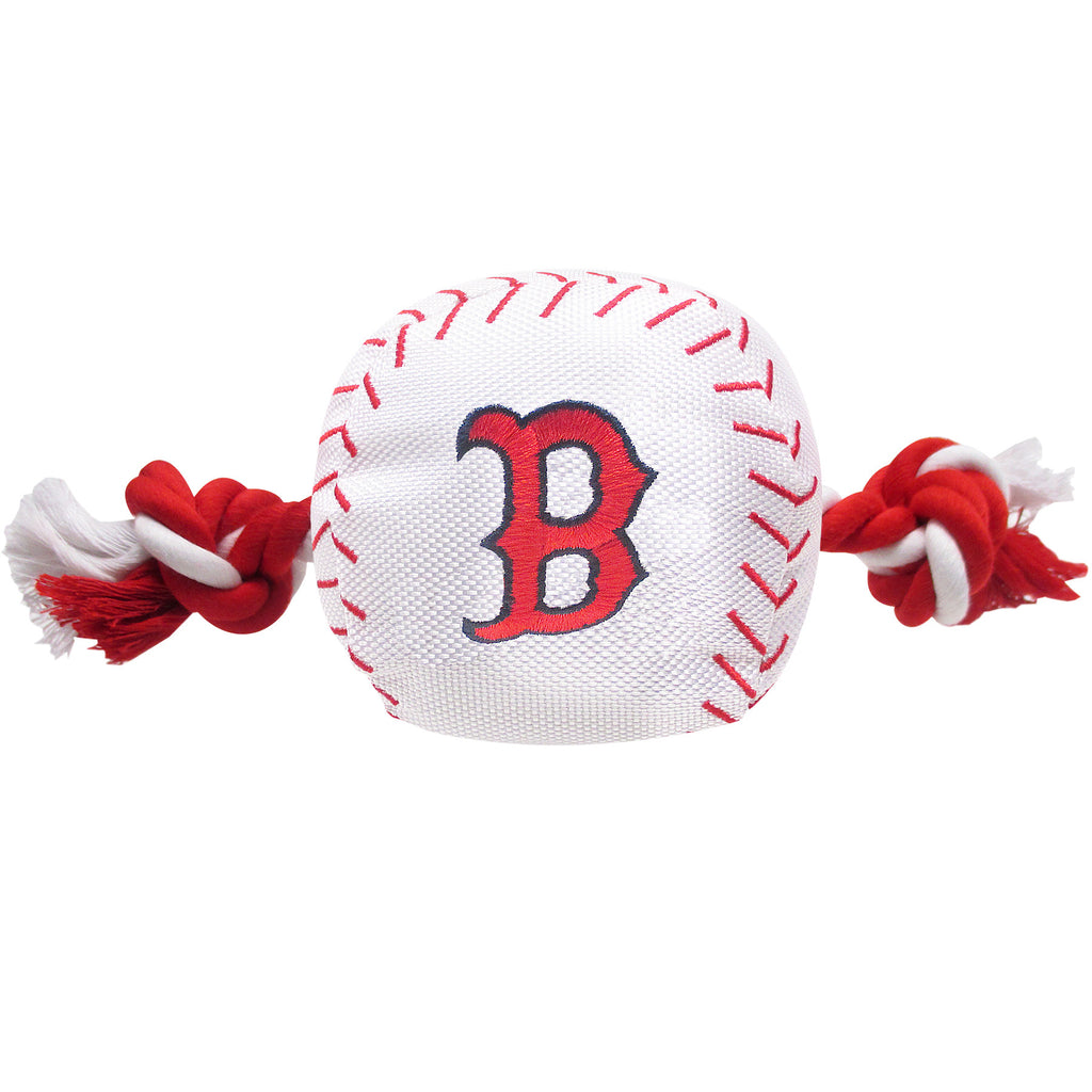 MLB - Boston Red Sox Baseball Rope Toy - Three Humans & A Dog Company