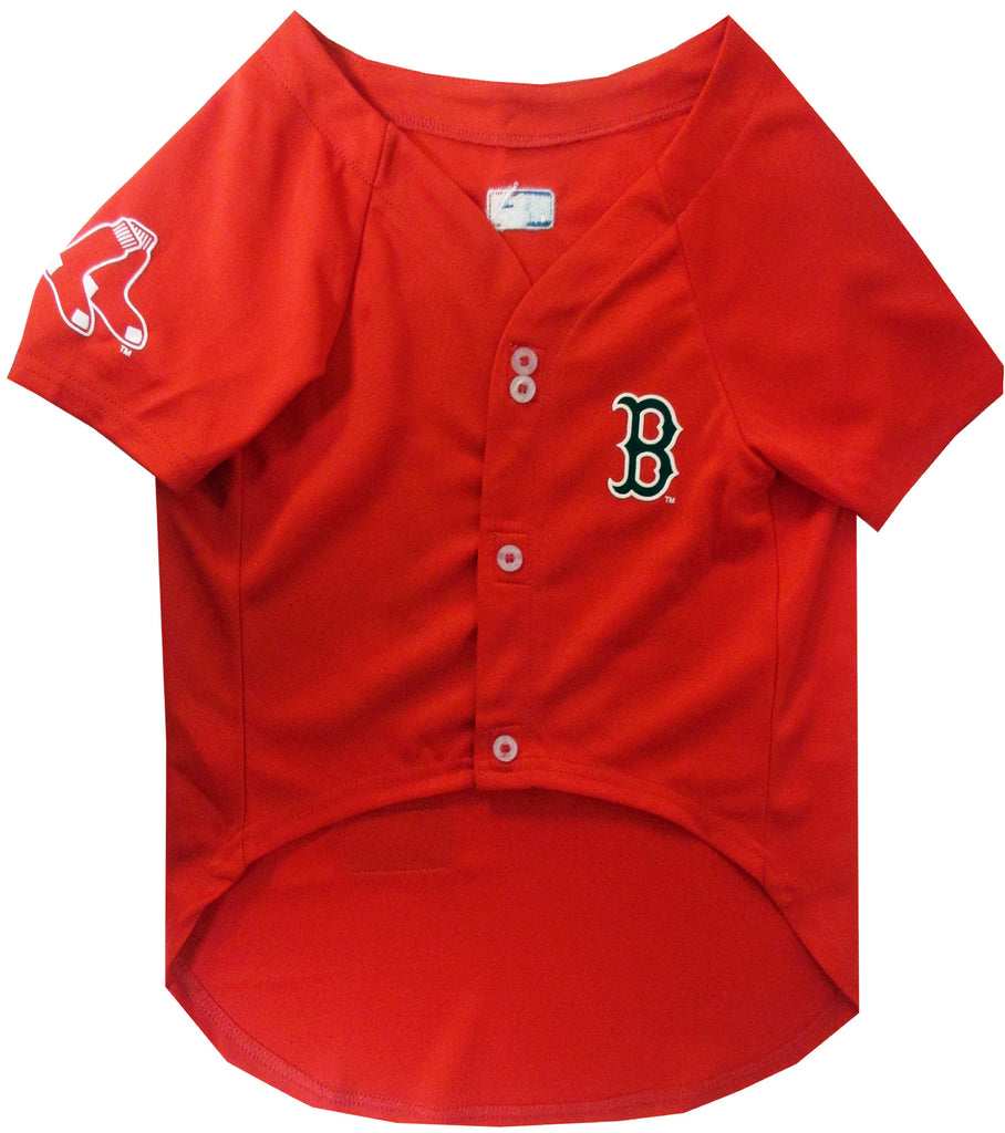 MLB  - Boston Red Sox Dog Jersey - Three Humans & A Dog Company  - 1