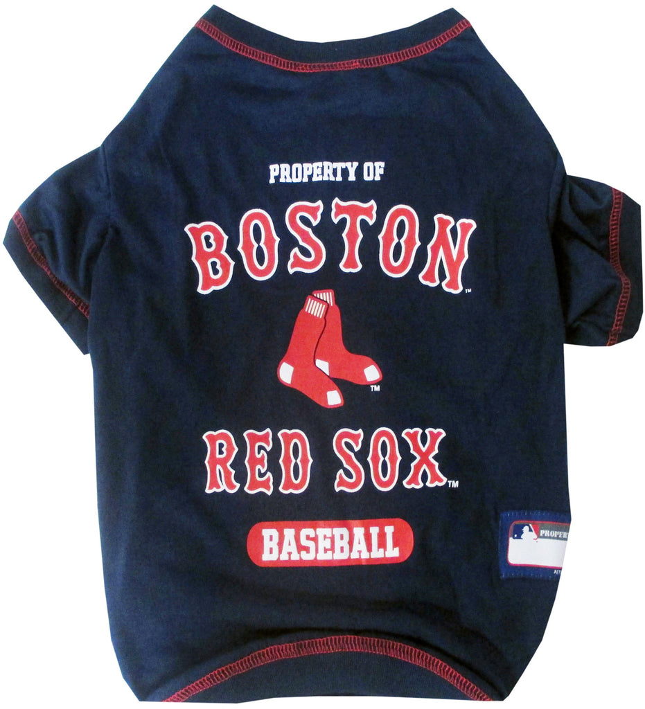 MLB - Boston Red Sox Dog T-Shirt - Three Humans & A Dog Company