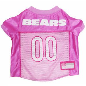 NFL - Chicago Bears Dog Jersey in Pink - Three Humans & A Dog Company