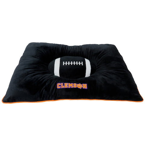 Dog Pillow Bed - Clemson Tigers Plush Pillow Bed