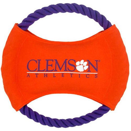 College Football - Clemson Tigers Dog Rope Disk Toy