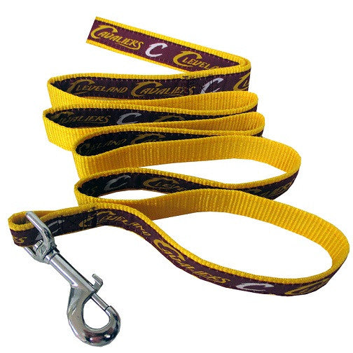 NBA  - Cleveland Cavaliers Dog Leash - Ribbon - Three Humans & A Dog Company