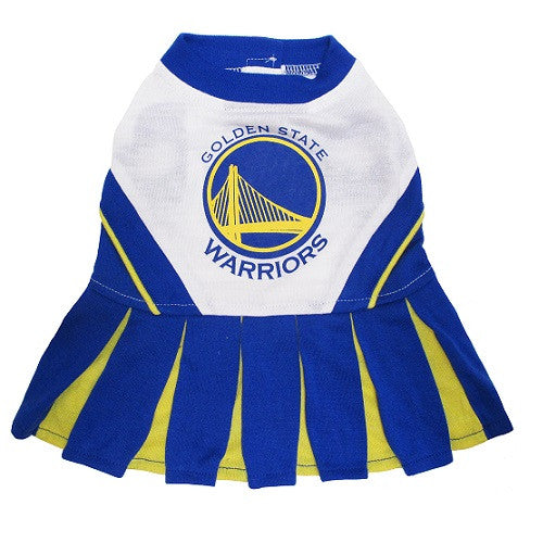 NBA - Golden State Warriors Dog Cheerleader Dress - Three Humans & A Dog Company