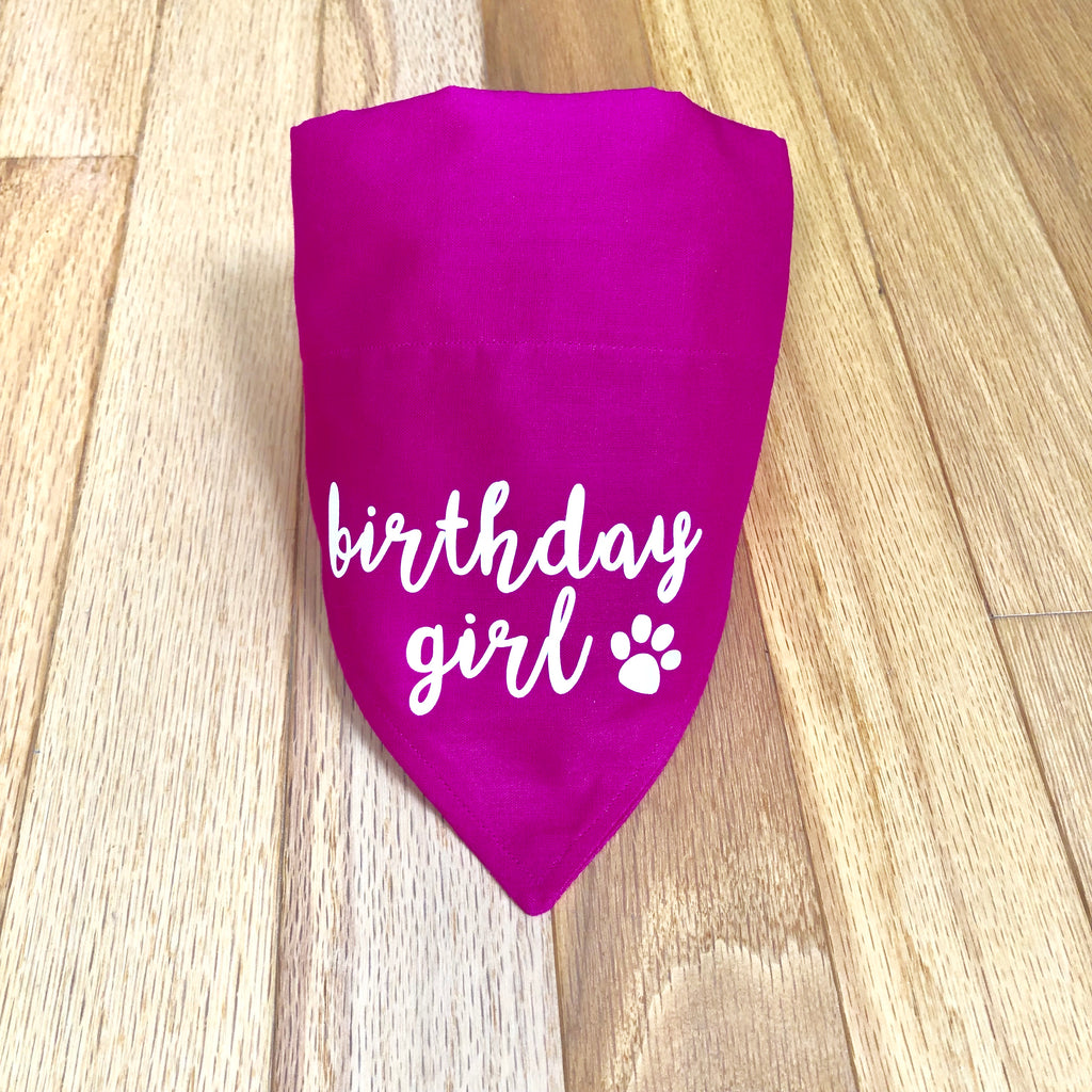 Bandana - Personalize Happy Birthday Bandana