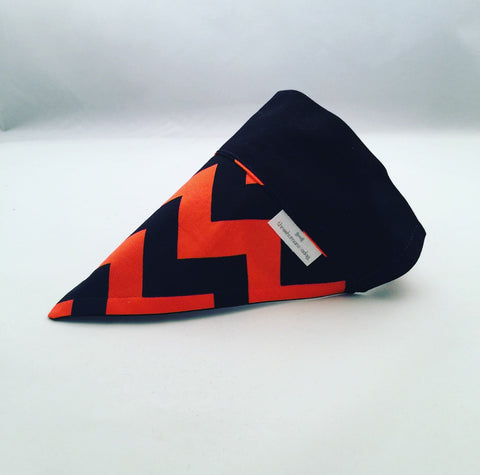 Bandana - Designed with Black and Orange Chevron