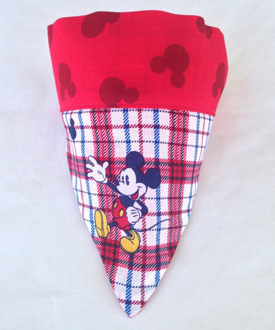 Bandana - Designed Mickey Mouse Plaid with Red