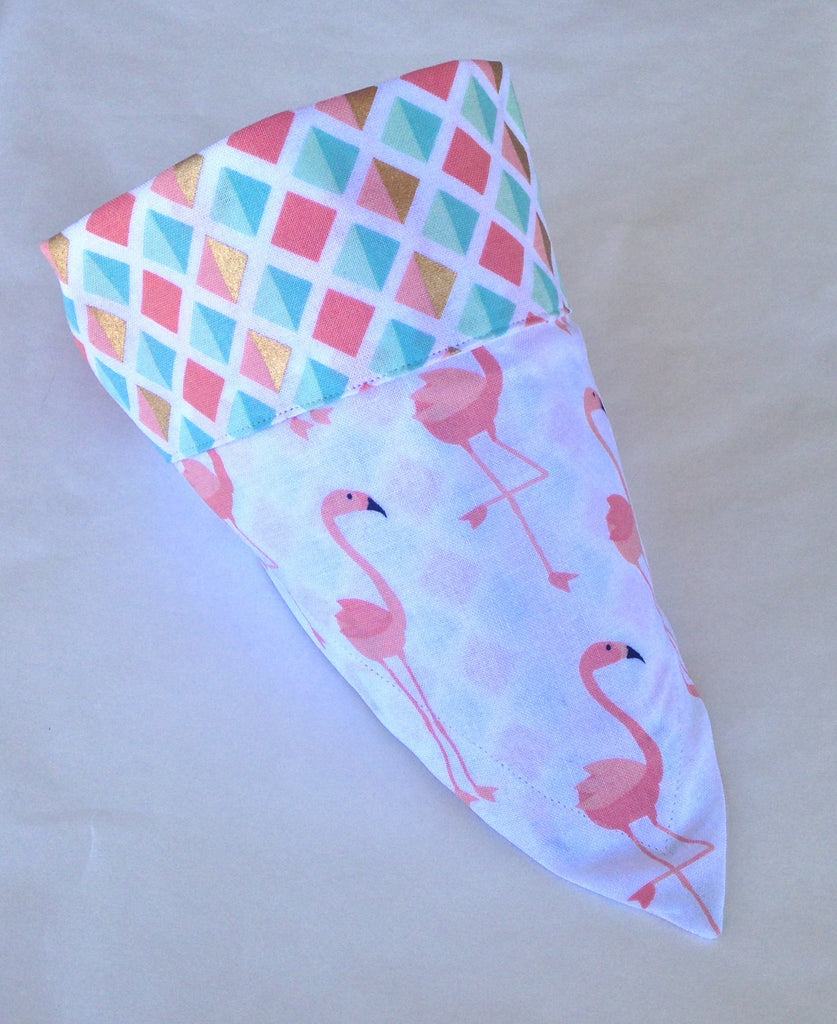 Bandana - Designed Flamingo with Squares
