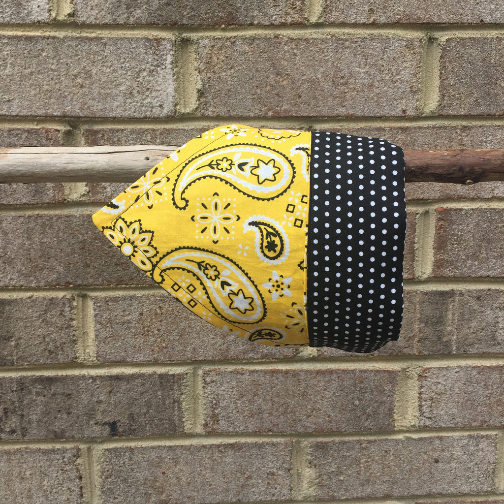 Bandana - Designed Yellow Paisley with Polka