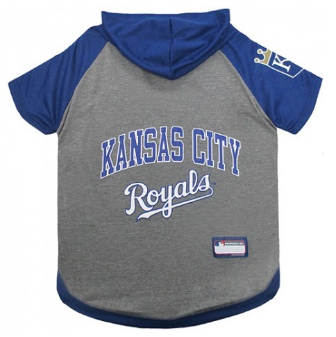 MLB - Kansas City Royals Dog Hoody Tee - Three Humans & A Dog Company