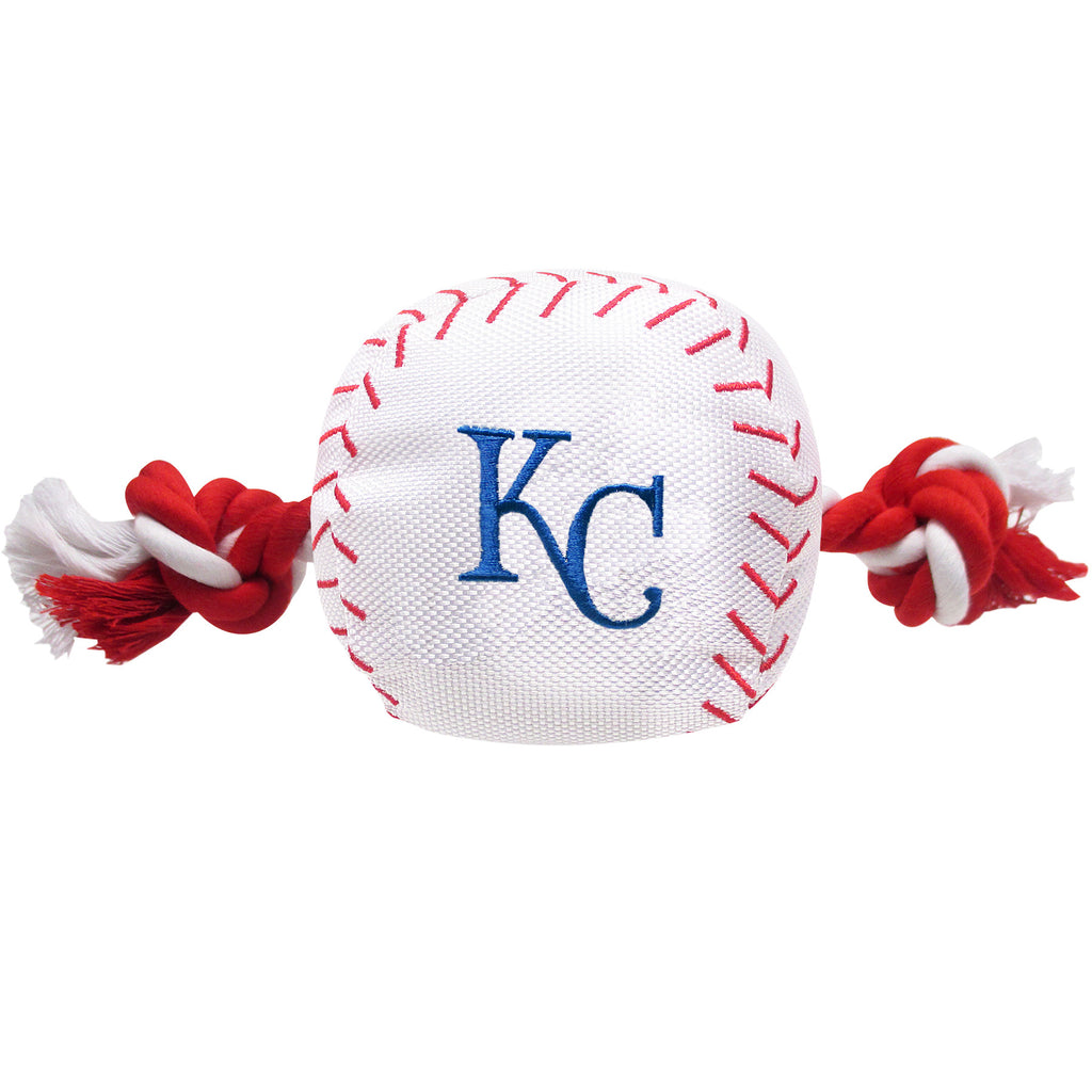 MLB - Kansas City Royals Baseball Rope Toy - Three Humans & A Dog Company