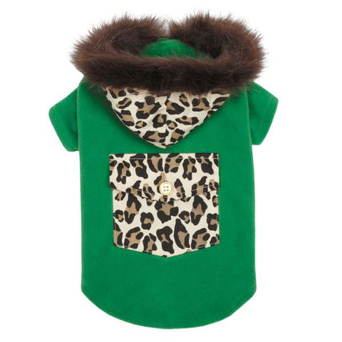Dog Coat - M Isaac Mizrahi Luxe Leopard Coat - Three Humans & A Dog Company  - 2