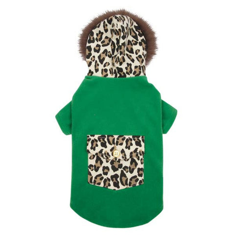 Dog Coat - M Isaac Mizrahi Luxe Leopard Coat - Three Humans & A Dog Company  - 3
