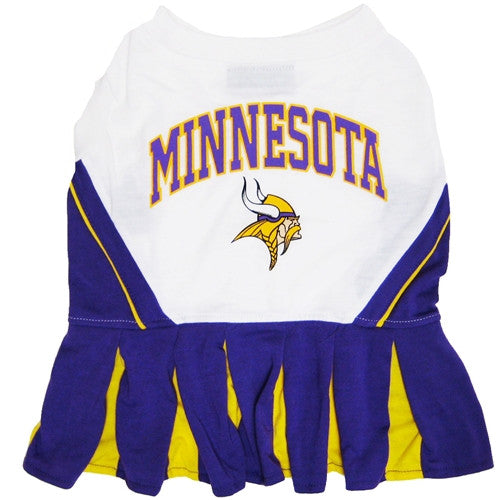 NFL - Minnesota Vikings Dog Cheerleader Dress - Three Humans & A Dog Company