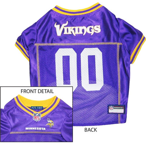 NFL - Minnesota Vikings Dog Jersey - Yellow Trim