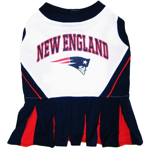 NFL - New England Patriots Dog Cheerleader Dress - Three Humans & A Dog Company