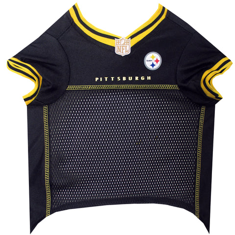 NFL - Pittsburgh Steelers Dog Jersey - Yellow Trim - Three Humans & A Dog Company  - 2