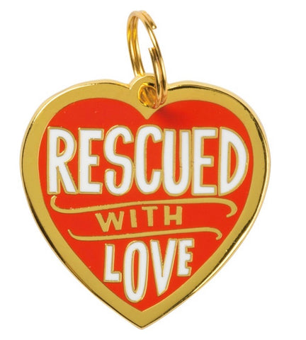 Accessories - Collar Charm - Rescued with Love