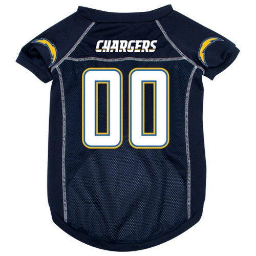 NFL - San Diego Chargers Dog Jersey - Three Humans & A Dog Company