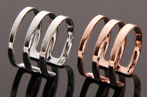 Rings - Knuckle Open Ring For Women - Three Humans & A Dog Company