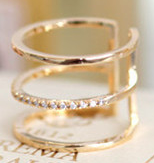Rings - Three Layer Ring For Women - Three Humans & A Dog Company  - 1