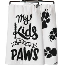 Decorative Towels - My Kids Have Paws - Three Humans & A Dog Company