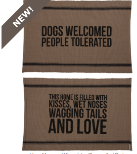 Home Decor   Rug   Dogs Welcome   2 Sided