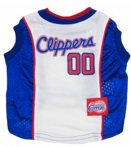 NBA - Los Angeles Clippers Dog Jersey - Three Humans & A Dog Company