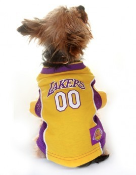 d3f2dae62d9 NBA - Los Angeles Lakers Dog Jersey - Three Humans   A Dog Company - 2