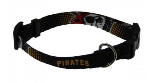 MLB - Pittsburgh Pirates Dog Collar - Three Humans & A Dog Company