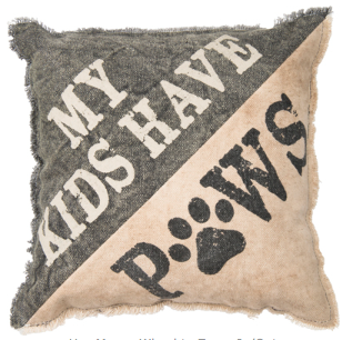 Decorative Pillow - Kids Have Paws - Three Humans & A Dog Company