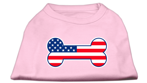 Dog Shirt - Bone Shaped American Flag Shirts - 4 Colors