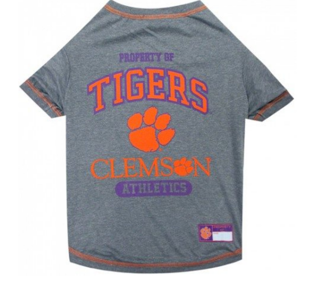 College Football - Clemson Tigers Dog T-Shirt