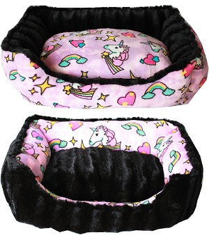 Unicorn - Reversible Bumper Bed Pink