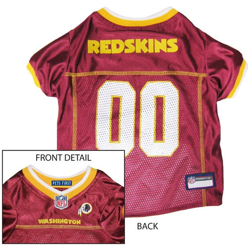 NFL - Washington Redskins Dog Jersey - Yellow Trim - Three Humans & A Dog Company