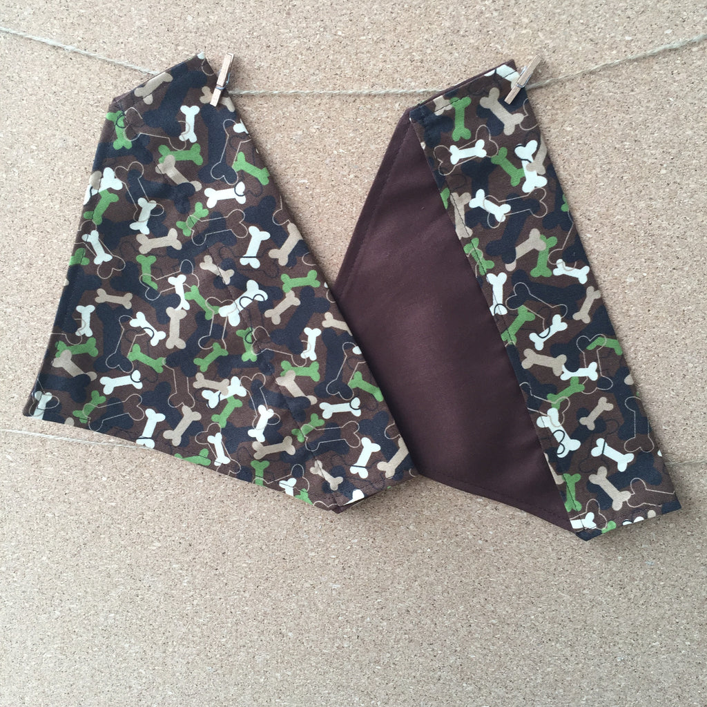 Bandana - Designed Camo with Bones - Three Humans & A Dog Company