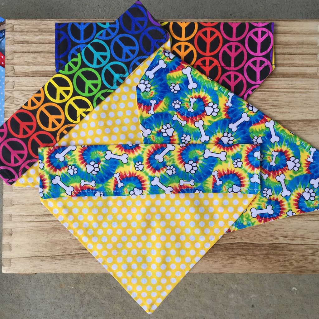 Bandana - Designed on Colorful Rainbow - Three Humans & A Dog Company